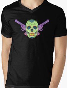 Big Guns {colorful} Mens V-Neck T-Shirt