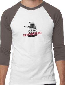 Doctor Who, Dalek, exterminate! Men's Baseball ¾ T-Shirt