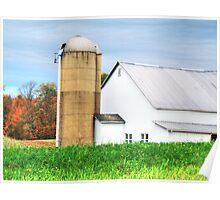 Beautiful White Barn  Poster