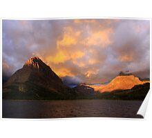 Glacier Park Sunrise Poster