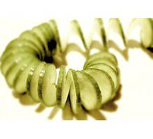 Cucumber Spirals  Photographic Print