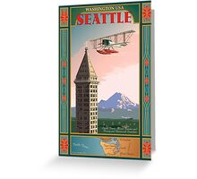 Seattle Icons Greeting Card