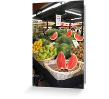 Adelaide Central Market Greeting Card