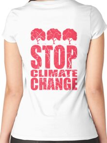 STOP CLIMATE CHANGE Women's Fitted Scoop T-Shirt