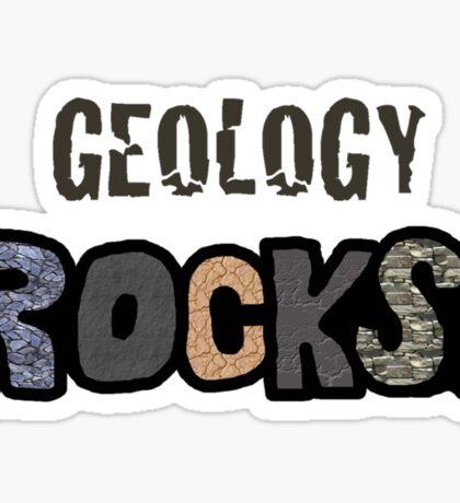 Geology Rocks Shirt Sticker