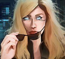 Cyberpunk glowing eyes Portrait by Jujibla