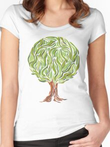 Illusion  tree Women's Fitted Scoop T-Shirt