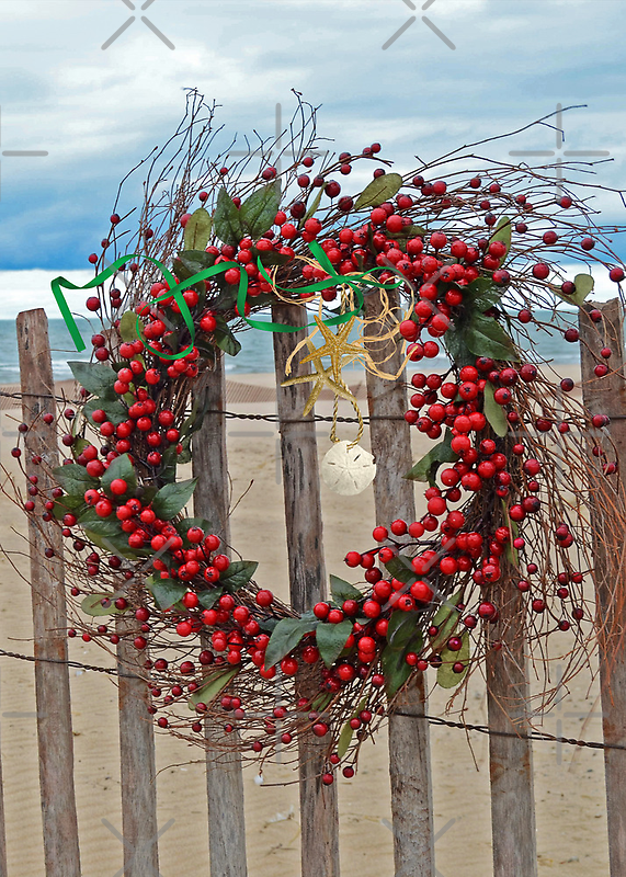 Beach Berry Wreath by Maria Dryfhout