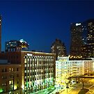 St. Louis Missouri at Night by barnsis