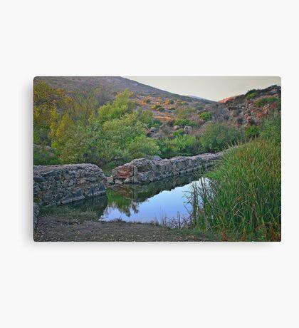 Old Mission Dam-Historic Landmark Canvas Print