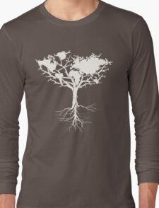Earth tree *pearl white Long Sleeve T-Shirt