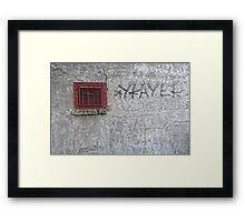 Tagged by Aykayer Framed Print