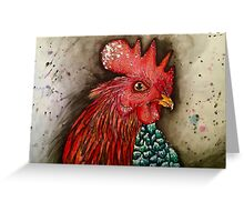 Sassy Rooster Greeting Card