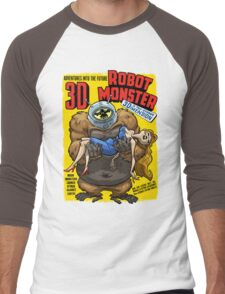 ROBOT MONSTER Men's Baseball ¾ T-Shirt