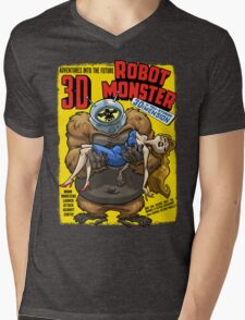 ROBOT MONSTER Mens V-Neck T-Shirt