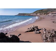 Fall Bay Gower Swansea Photographic Print