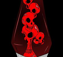 Skull Lava Lamp by zombieCraig