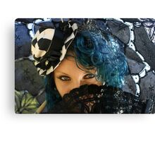 Blue Eyes ~ Miss Twisted Canvas Print