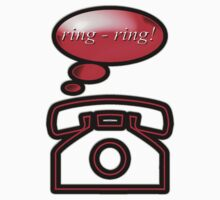ring ring - phone, sticker, tee Kids Clothes