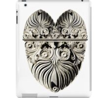 Ornate Italian Scroll face heart iPad Case/Skin