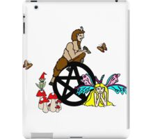 Faeries, Pan and a Pentacle iPad Case/Skin