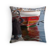 Modern Viking times Throw Pillow