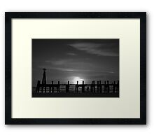 Without Pier 01, St Annes on Sea, Lancashire, UK Framed Print