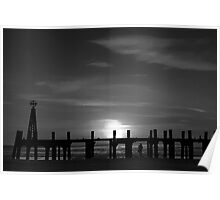 Without Pier 01, St Annes on Sea, Lancashire, UK Poster
