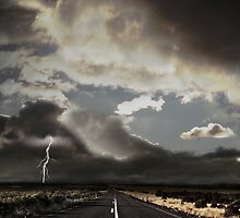 Stormy Country Road by photosteak