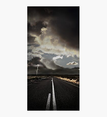 Stormy Country Road Photographic Print