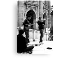 Busking at the Bode Canvas Print