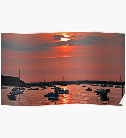 Sunset at Sandbanks Poster