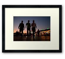 Three Ghosts Framed Print