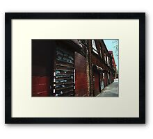 streetscape 1 Framed Print