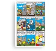"""Rick the chick  """"THE MAGIC SHELL (I pulcini predestinati) parte 22"""" Canvas Print"""