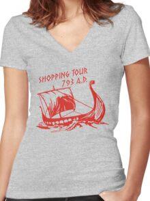 Viking Shopping Tour 793 Women's Fitted V-Neck T-Shirt