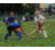 091611 044 0 van gogh field hockey blur 2 oil Photographic Print