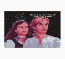 Guybrush and Elaine (final of Monkey Island 1) Kids Tee