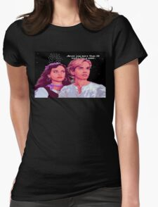 Guybrush and Elaine (final of Monkey Island 1) Womens Fitted T-Shirt