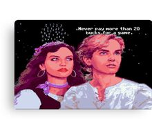 Guybrush and Elaine (final of Monkey Island 1) Canvas Print