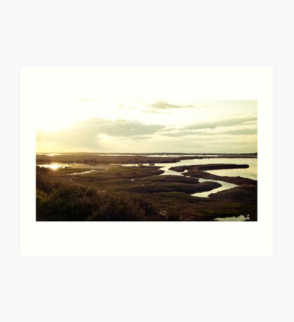 Norfolk sunset Art Print