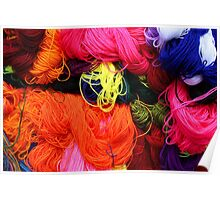 Colorful Yarn at the Market Poster