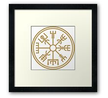 "Vegsvisir - the viking ""compass"" Framed Print"