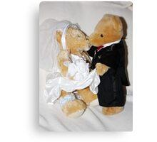 Teddy Wedding Canvas Print