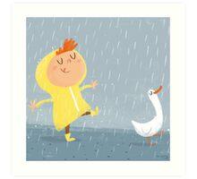 Nice weather for ducks Art Print