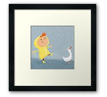 Nice weather for ducks Framed Print