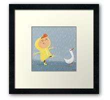 Nice weather for ducks Framed Print