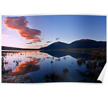 Lenticular Clouds at Sunrise Poster
