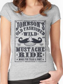 MUSTACHE RIDE Women's Fitted Scoop T-Shirt