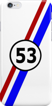 VW 53, Herbie the Love Bug's racing stripes and number 53 by ALIANATOR
